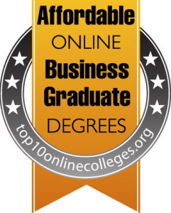 Badge - Affordable Online Business Graduate Degrees